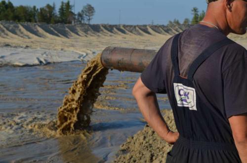 """Наши проекты """"под ключ"""". Гидромеханизированная добыча песка"""